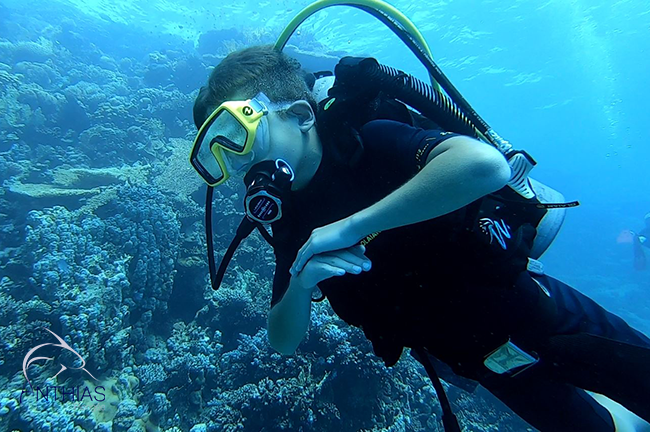 Enfant plongeur